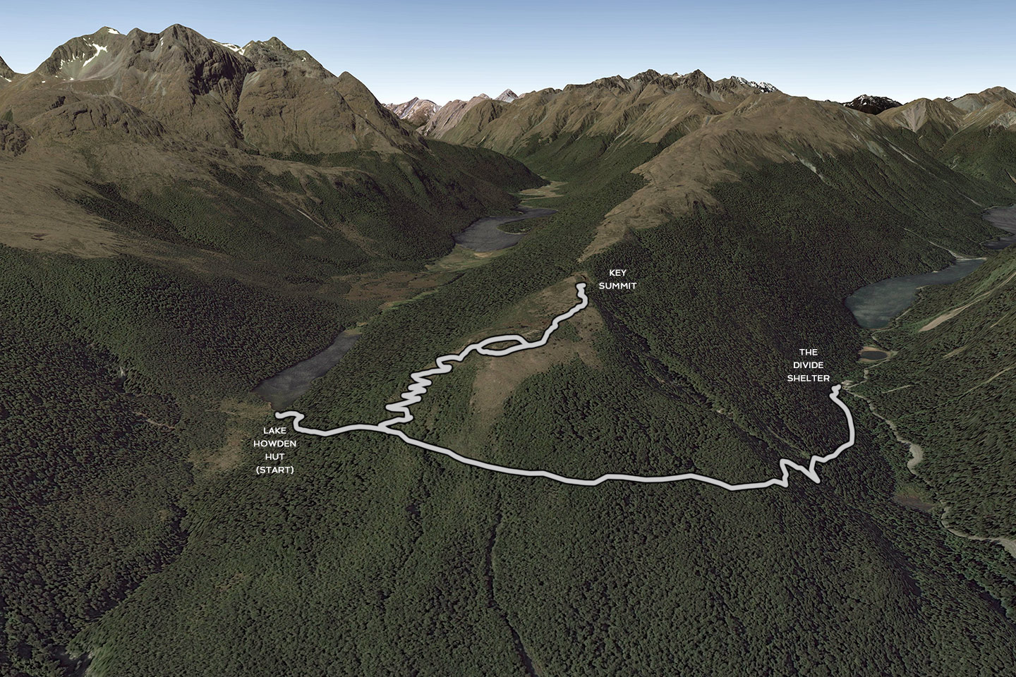 Routeburn Track, Mount Aspiring National Park and Fiordland National Park, New Zealand